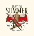 t-shirt design slogan typography enjoy summer vector image vector image