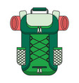tourist backpack color outline icon vector image