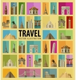 Travel Set of elements - Italy USA America New vector image vector image