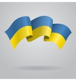 Ukrainian waving Flag vector image