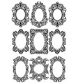 vintage baroque frame decor set detailed ornament vector image vector image
