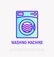 washing machine thin line icon vector image vector image