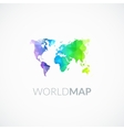 world map rainbow color vector image