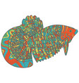 zentangle doodle fish - colorful version of vector image