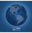 Network globe sphere earth map vector image