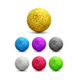 color shiny metallic spheres set vector image