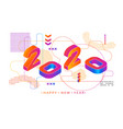 2020 colored memphis style modern design banner vector image vector image