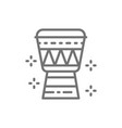 african djembe drum line icon vector image vector image