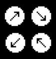 arrow sign icon set black arrows on white vector image