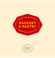bakery emblems bakery red badge vector image