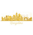 bangalore city skyline golden silhouette vector image vector image