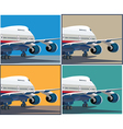 big civil aircraft vector image vector image