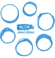Blue marker paint circles set vector image