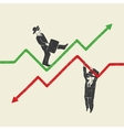 businessman up and down vector image