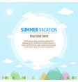 Cards Summer vacation vector image vector image