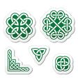 Celtic green knots patterns vector image vector image