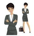 character happy business vector image