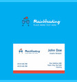 cheers logo design with business card template vector image
