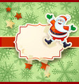 christmas background with happy santa on snow vector image vector image