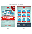 Christmas Sale Business Flyer Template EPS10 vector image