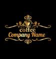coffee company 03 vector image vector image