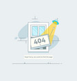 Design 404 error page is lost and not found