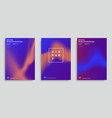 design templates with vibrant gradient shapes vector image vector image