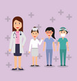 doctors female staff hospital professional people vector image