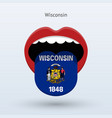 electoral vote of wisconsin abstract mouth vector image