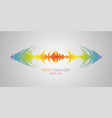 equalizer music player audio colorful wave logo vector image vector image