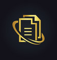 file data office gold logo vector image vector image