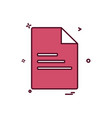 file document office icon design vector image