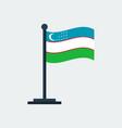 flag of uzbekistanflag stand vector image vector image