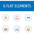 flat icons lyre tone symbol radio and other vector image vector image