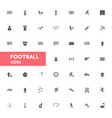 football icons set vector image