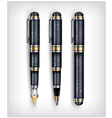 fountain pen color set vector image