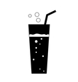 Glass soda icon black vector image vector image