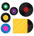 gramophone vinyl lp record template set vector image vector image