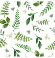 green herbs cute green floral seamless pattern vector image vector image