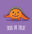 halloween poster or greeting card with cartoon vector image vector image
