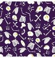 Halloween skeletons pattern 04 vector image vector image