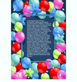 happy birthday festive template vector image vector image