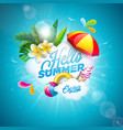 hello summer holiday vector image