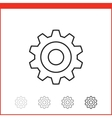 icon of gear vector image
