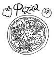 image of pizza simple freehand drawing vector image