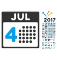 Independence Day Icon With 2017 Year Bonus vector image