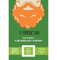 Irish man with mustache and beard for St Patricks vector image