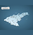 isometric 3d dominican republic map concept vector image vector image