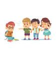 kids bullying humiliation mocking classmates vector image