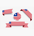 liberian flag stickers and labels vector image vector image